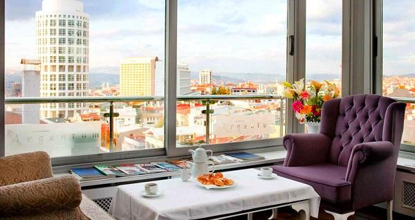 Şeker Bayramı'nda da geçerli Arjantin Caddesi'nin elit adresi Argentum Hotel'de kahvaltı dahil tek veya çift kişilik 1 gece konaklama 140 TL'den başlayan fiyatlarla! Fırsatın geçerlilik tarihi için DETAYLAR bölümünü inceleyiniz.