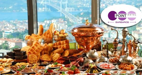 Point Hotel Barbaros'ta Boğaz manzarası ve fasıl eşliğinde açık büfe iftar menüsü
