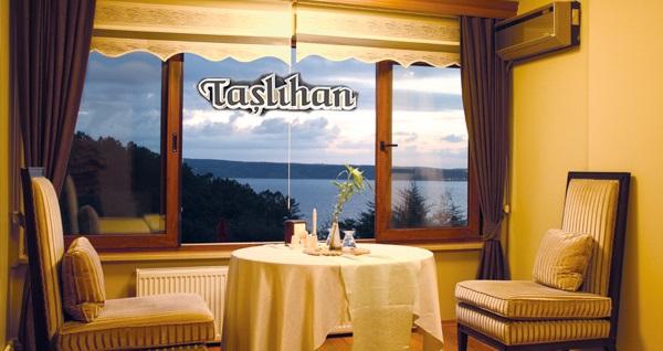 Boğaza nazır Taşlıhan Butik Otel'in farklı odalarında kahvaltı dahil çift kişilik 1 gece konaklama seçenekleri 199 TL'den başlayan fiyatlarla! Fırsatın geçerlilik tarihi için, DETAYLAR bölümünü inceleyiniz.