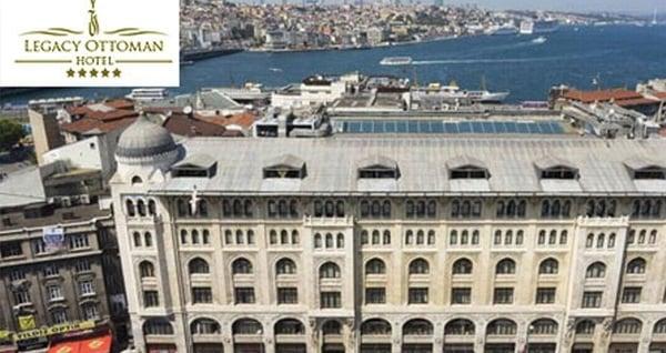 Legacy Ottoman Hotel'de Boğaz manzarası eşliğinde yemek menüsü 130 TL'den başlayan fiyatlarla! Fırsatın geçerlilik tarihi için DETAYLAR bölümünü inceleyiniz.