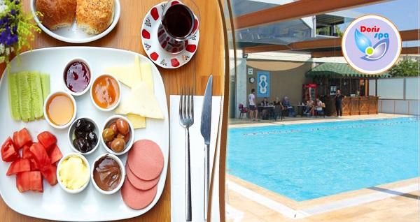 Doris Spa & Wellness Club Plaj Yolu Tesisleri'nde kahvaltı tabağı, kapalı havuz girişi ve sauna kullanımı 39,90 TL! Fırsatın geçerlilik tarihi için DETAYLAR bölümünü inceleyiniz.