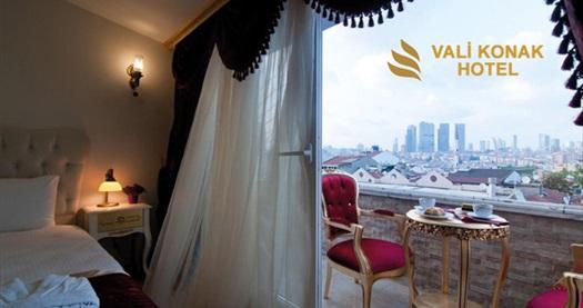 Nişantaşı Vali Konak Hotel'de farklı oda tiplerinde çift kişilik 1 gece konaklama seçenekleri 99 TL'den başlayan fiyatlarla! Fırsatın geçerlilik tarihi için, DETAYLAR bölümünü inceleyiniz.