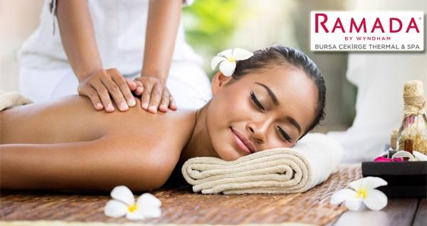 Ramada Bursa Çekirge'de günlük tesis kullanımı dahil 50 dakika aromaterapi masajı 320 TL yerine 129 TL! Fırsatın geçerlilik tarihi için DETAYLAR bölümünü inceleyiniz.