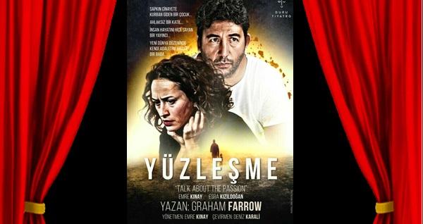 """Emre Kınay ve Esra Kızıldoğan'ın oynadığı """"Yüzleşme"""" oyununa biletler 89 TL yerine 56 TL! Tarih ve konum seçimi yapmak için """"Hemen Al"""" butonuna tıklayınız."""