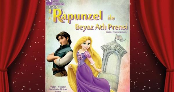 """Hem eğitici hem de öğretici bir rolü olan ''Rapunzel ile Beyaz Atlı Prensi'' adlı çocuk oyununa biletler 36 TL yerine 25 TL! Tarih ve konum seçimi yapmak için """"Hemen Al"""" butonuna tıklayınız."""