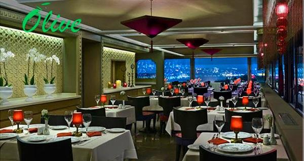 Olive Restaurant'ta eşsiz manzara eşliğinde yerli içecek ve akşam yemeği 109 TL'den başlayan fiyatlarla! Fırsatın geçerlilik tarihi için DETAYLAR bölümünü inceleyiniz. Sadece Cumartesi günleri fasıl vardır.