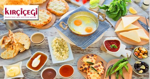 Kırçiçeği'nin Bakırköy ve Ortaköy şubelerinde geçerli 2 kişilik zengin içerikli serpme kahvaltı menüsü 64 TL yerine 39,90 TL! Fırsatın geçerlilik tarihi için DETAYLAR bölümünü inceleyiniz.