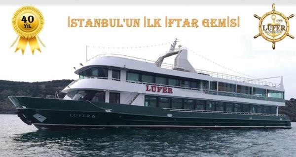 Lüfer-6 gemisi ile canlı fasıl ve semazen gösterisi eşliğinde Boğaz'da zengin iftar menüsü 39 TL'den başlayan fiyatlarla! 16 Mayıs 2018-14 Haziran 2018 tarihleri arasında, iftar saatinde geçerlidir.