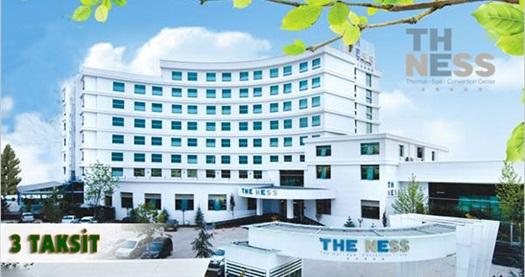 """Kocaeli The Ness Thermal Hotel'de çift kişilik odada kişi başı 1 gece YARIM PANSİYON PLUS konaklama ve masaj seçeneği 99 TL'den başlayan fiyatlarla! 30 Aralık 2016 tarihine kadar, haftanın her günü geçerlidir. FARKLI FİYATLARDAKİ TARİH OPSİYONLARI İÇİN """"HEMEN AL""""A TIKLAYIN."""