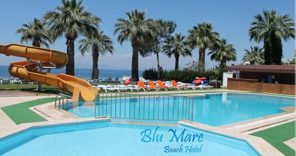 Kuşadası Blu Mare Beach Hotel'de HER ŞEY DAHİL 1 gece konaklama 199 TL'den başlayan fiyatlarla! Fırsatın geçerlilik tarihi için DETAYLAR bölümünü inceleyiniz.