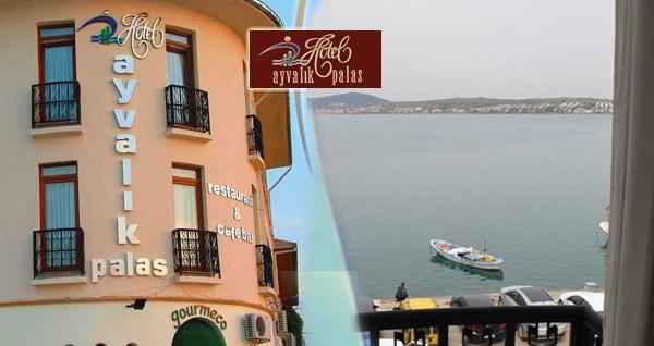 Huzurun adresi Ayvalık Palas Hotel'de kahvaltı dahil çift kişilik 1 gece konaklama 199 TL'den başlayan fiyatlarla! Fırsatın geçerlilik tarihi için, DETAYLAR bölümünü inceleyiniz.