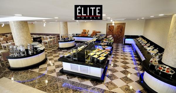 Elite Hotels Darıca'da Ramazan ayı boyunca açık büfe zengin iftar menüsü 69 TL! Bu fırsat 6 Mayıs - 3 Haziran 2019 tarihleri arasında, iftar saatinde geçerlidir.