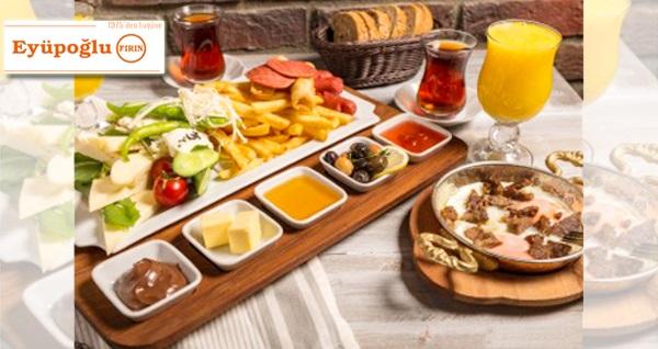 Çankaya Eyüpoğlu Fırın Cafe Bistro'da çift kişilik serpme kahvaltı 39,90 TL! Fırsatın geçerlilik tarihi için, DETAYLAR bölümünü inceleyiniz.