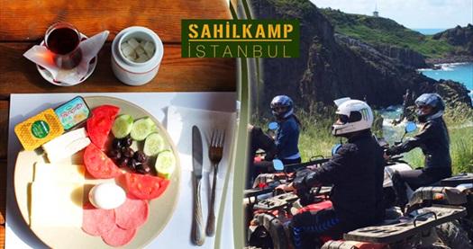 Şile Sahil Kamp İstanbul'da plaj girişi, kahvaltı, atv turu ve tesis kullanımı 19,90 TL'den başlayan fiyatlarla! Fırsatın geçerlilik tarihi için DETAYLAR bölümünü inceleyiniz.