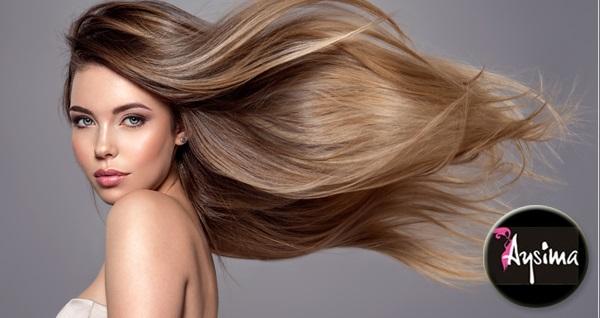 Nilüfer Aysima Güzellik'te saç boyama, bakım, yıkama, fön veya keratin ve protein saç bakımı seçenekleri 55 TL'den başlayan fiyatlarla! Fırsatın geçerlilik tarihi için DETAYLAR bölümünü inceleyiniz.