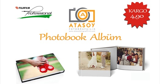 Atasoy Fotoğrafçılık'ta seçtiğiniz fotoğraflardan oluşan sert kapaklı foto kitaplar 34,90 TL'den başlayan fiyatlarla! 15 Haziran 2015 tarihine kadar geçerlidir. Tüm Türkiye'ye kargo yapılır.