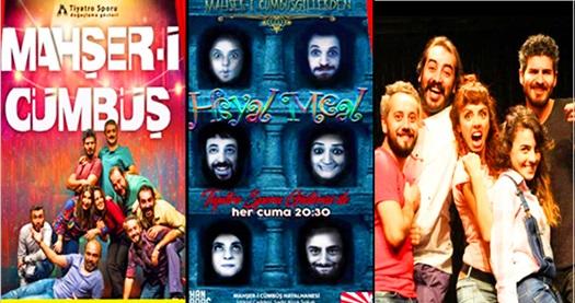 """Türkiye'de modern doğaçlama tiyatronun öncüsü olan """"Mahşer-i Cümbüş"""", """"Hayal Meal"""" ve """"Kontratak"""" için biletler 12 TL'den başlayan fiyatlarla! Tarih ve konum seçimi yapmak için """"Hemen Al"""" butonuna tıklayınız."""