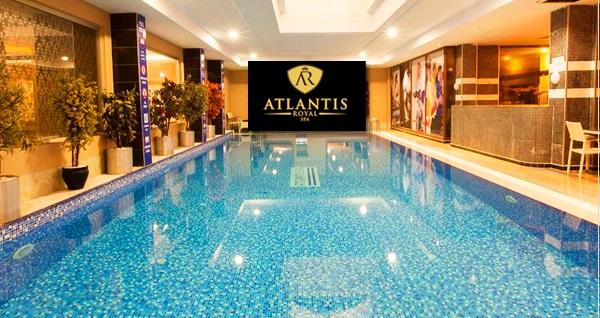 Atlantis Royal Spa'dan tüm gün tesis kullanımı ve yemek menüsü 39,90 TL'den başlayan fiyatlarla! Fırsatın geçerlilik tarihi için DETAYLAR bölümünü inceleyiniz.
