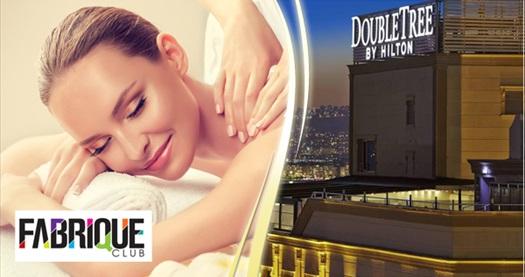 DoubleTree by Hilton İzmir Alsancak Fabrique Spa'da masaj, kese köpük seçenekleri 200 TL'den başlayan fiyatlarla! Fırsatın geçerlilik tarihi için DETAYLAR bölümünü inceleyiniz.