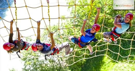 """Türkiye'nin en büyük açık alan macera ve etkinlik parkı Forestanbul'da """"Macera Parkı'na Giriş"""" 34,90 TL'den başlayan fiyatlarla! Fırsatın geçerlilik tarihi için DETAYLAR bölümünü inceleyiniz."""