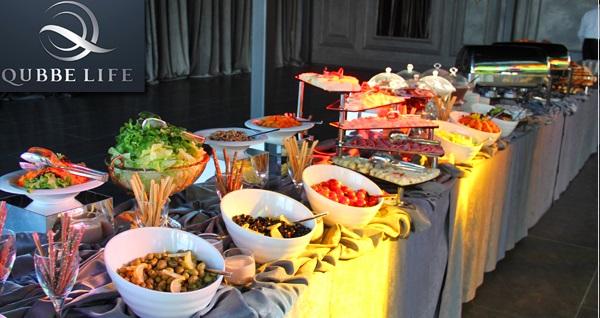 Qubbe Life'da her Cumartesi ve Pazar açık büfe kahvaltı