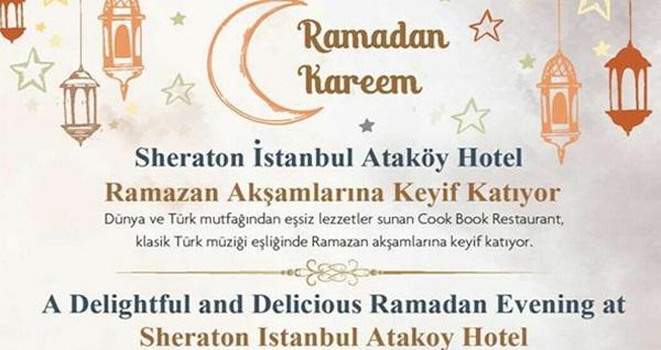 Sheraton İstanbul Ataköy Hotel'de Cook Book Restaurant'ta her gün ayrı hazırlanmış zengin açık büfe iftar menüleri 129 TL! Bu fırsat 6 Mayıs - 3 Haziran 2019 tarihleri arasında, iftar saatinde geçerlidir.