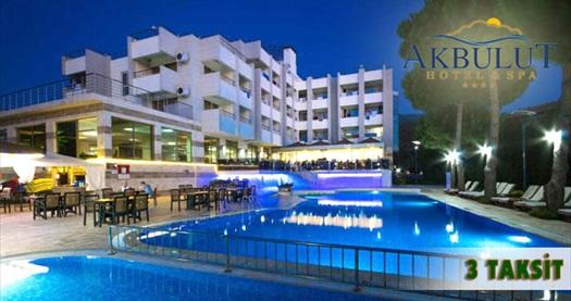 """Kuşadası Akbulut Hotel & Spa'da çift kişilik odada kişi başı 1 gece konaklama seçenekleri 59 TL'den başlayan fiyatlarla! 20 Haziran 2016 tarihine kadar, haftanın her günü geçerlidir.""""FARKLI FİYATLARDAKİ TARİH OPSİYONLARI İÇİN """"HEMEN AL""""A"""