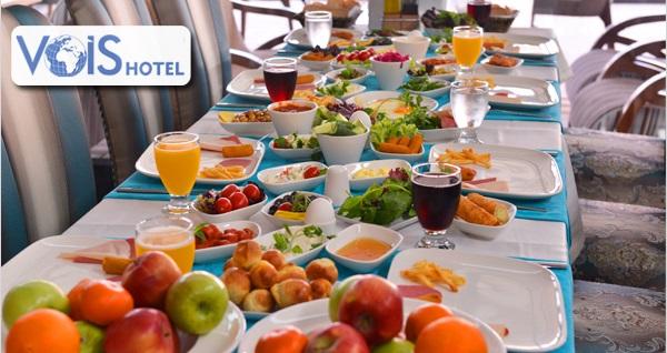 Ataşehir Vois Hotel'de 27 çeşitten oluşan açık büfe kahvaltı menüsü 26,90 TL! Fırsatın geçerlilik tarihi için DETAYLAR bölümünü inceleyiniz.