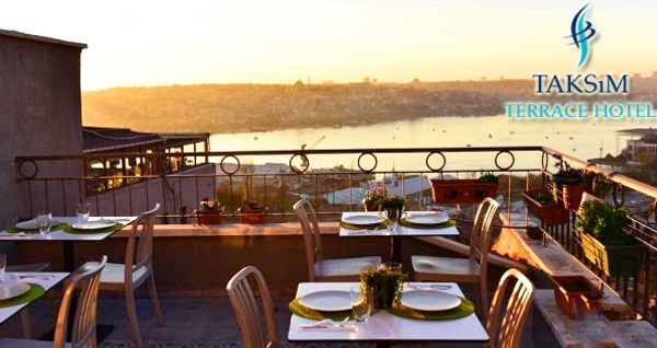 Eşsiz Haliç manzarasına nazır Taksim Terrace Hotel'de çift kişilik 1 gece konaklama seçenekleri 129 TL'den başlayan fiyatlarla! Fırsatın geçerlilik tarihi için DETAYLAR bölümünü inceleyiniz.