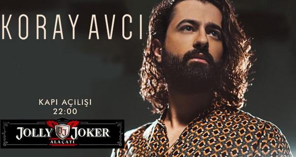 29 Ağustos'ta Jolly Joker Alaçatı Sahnesi'nde gerçekleşecek Koray Avcı konserine biletler 99,90 TL'den başlayan fiyatlarla! 29 Ağustos 2019 | 22:00 | Jolly Joker Alaçatı