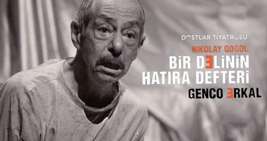 """Türkiye'de ilk tek kişilik """"Bir Delinin Hatıra Defteri"""" oyununa biletler 67 TL yerine 40 TL! Tarih ve konum seçimi yapmak için """"Hemen Al"""" butonuna tıklayınız."""