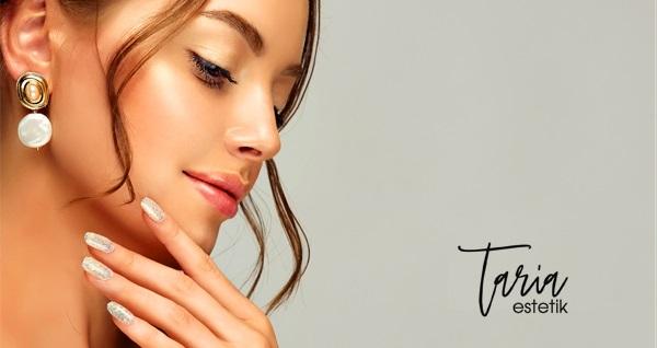 Taria Güzellik Merkezi'nde kalıcı oje, manikür ve protez tırnak uygulaması  125 TL'den başlayan fiyatlarla! Fırsatın geçerlilik tarihi için DETAYLAR bölümünü inceleyiniz.