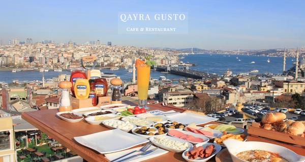 Süleymaniye Qayragusto Cafe'de 2 kişilik serpme kahvaltı 54,90 TL! Fırsatın geçerlilik tarihi için DETAYLAR bölümünü inceleyiniz.