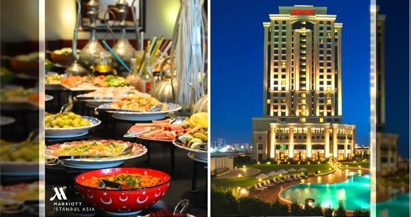 Ataşehir İstanbul Marriott Hotel Asia Orange Restaurant'ta canlı fasıl müziği eşliğinde açık büfe iftar menüsü 109 TL! Bu fırsat 6 - 31 Mayıs 2019 tarihleri arasında, iftar saatinde geçerlidir.