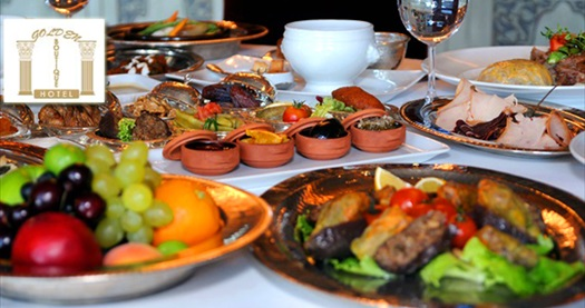 Kavaklıdere Golden Boutique Hotel'de iftar menüleri 34,90 TL'den başlayan fiyatlarla! 27 Mayıs - 24 Haziran 2017 tarihleri arasında, iftar saatinde geçerlidir.