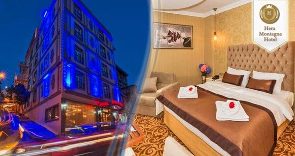Şişli Montagna Hera Hotel'de çift kişilik 1 gece konaklama seçenekleri