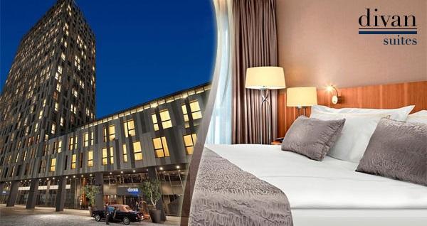 Şehrin dinamizmini yansıtan Divan Suites Istanbul GPlus'da kahvaltı dahil çift kişilik 1 gece konaklama 269 TL! Fırsatın geçerlilik tarihi için DETAYLAR bölümünü inceleyiniz.