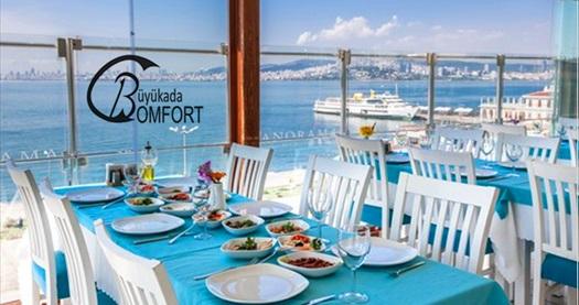 Büyükada Comfort Hotel Palya Restaurant'ta haftanın her günü geçerli canlı müzik eşliğinde yemek menüleri 125 TL'den başlayan fiyatlarla! Fırsatın geçerlilik tarihi için DETAYLAR bölümünü inceleyiniz.