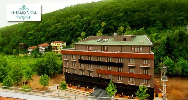 Yalova Thermo Vital Hotel'de kahvaltı dahil çift kişilik 1 gece konaklama ve spa keyfi 300 TL'den başlayan fiyatlarla! Fırsatın geçerlilik tarihi için DETAYLAR bölümünü inceleyiniz.