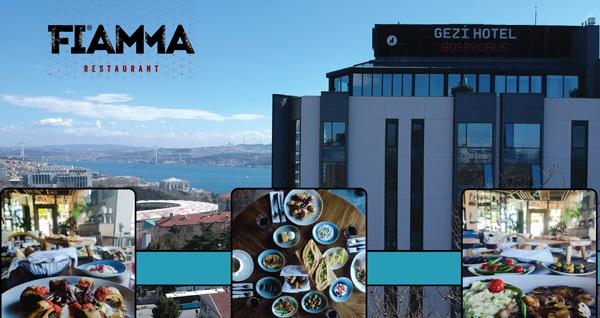 Gezi Hotel Bosphorus Fiamma Restaurant'ta Boğaz manzaralı enfes iftar menüleri 90 TL'den başlayan fiyatlarla! Bu fırsat 6 Mayıs - 3 Haziran 2019 tarihleri arasında, iftar saatinde geçerlidir.