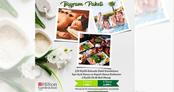 Hilton Garden Inn Yalova'da kahvaltı ve spa seçenekleriyle çift kişilik 1 gece konaklama paketleri 299 TL'den başlayan fiyatlarla! Fırsatın geçerlilik tarihi için, DETAYLAR bölümünü inceleyiniz.