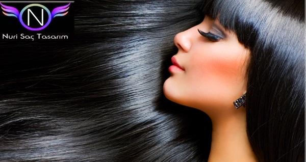 Nuri Saç Tasarım ve Bakım Salonu'nda saç bakım uygulamaları