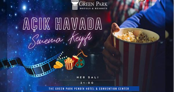 The Green Park Pendik Hotel & Convention Center'da deniz ve havuz manzarasına karşı açık havada sinema keyfi 59 TL'den başlayan fiyatlarla! Fırsatın geçerlilik tarihi için DETAYLAR bölümünü inceleyiniz.