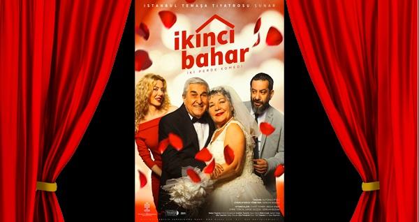 """Aşk, romantizm, komedi dolu 'İkinci Bahar' tiyatro oyununa biletler 34 TL'den başlayan fiyatlarla! Tarih ve konum seçimi yapmak için """"Hemen Al"""" butonuna tıklayınız."""