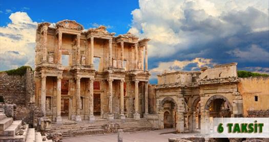 4 ve 5 yıldızlı otellerde 2 gün 1 gece YARIM PANSİYON konaklamalı Efes & Meryem Ana & Şirince & Pamukkale turu 195 TL'den başlayan fiyatlarla! Özel günler HARİÇ; 4-5 Haziran & 29-30 Ekim 2016 tarihlerinde her haftasonu Cuma hareketli Pazar dönüşlü turlarda geçerlidir.