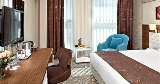 Eskişehir The Merlot Hotel'de 1 gece konaklama seçenekleri 179 TL'den başlayan fiyatlarla! Fırsatın geçerlilik tarihi için, DETAYLAR bölümünü inceleyiniz.