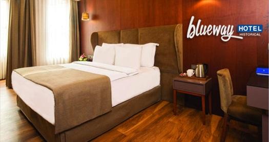 Şişli Blueway Hotel Historical'da kahvaltı HARİÇ çift kişilik 1 gece konaklama 179 TL'den başlayan fiyatlarla! Fırsatın geçerlilik tarihi için DETAYLAR bölümünü inceleyiniz.