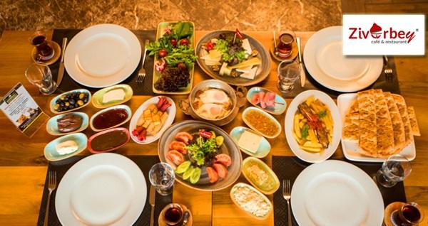 Ziverbey Restaurant'ta serpme kahvaltı veya açık büfe brunch 27,90 TL'den başlayan fiyatlarla! Fırsatın geçerlilik tarihi için, DETAYLAR bölümünü inceleyiniz.