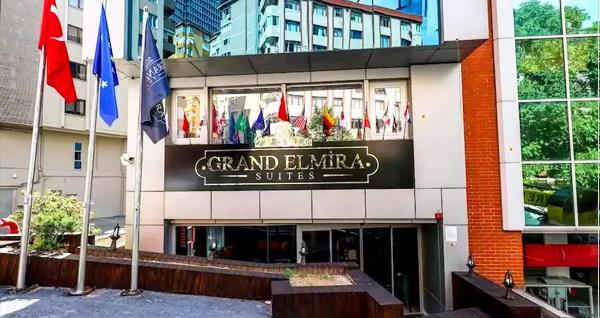 Şişli Grand Elmira Suites'te kahvaltı dahil çift kişilik 1 gece konaklama 139 TL! Fırsatın geçerlilik tarihi için DETAYLAR bölümünü inceleyiniz.