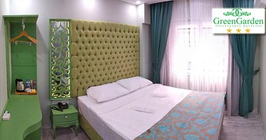 Şirinevler Green Garden Istanbul Hotel'de açık büfe kahvaltı dahil 1 gece konaklama keyfi 149 TL'den başlayan fiyatlarla! Fırsatın geçerlilik tarihi için, DETAYLAR bölümünü inceleyiniz.